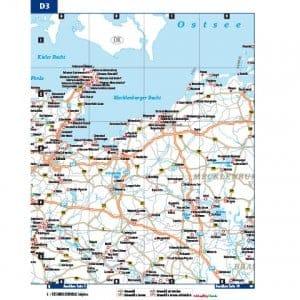 Große Landkarte mit Stellplätzen im Bordatlas Stellplatzführer