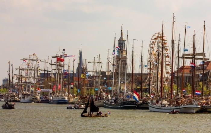 Segelschiffe in Kampen