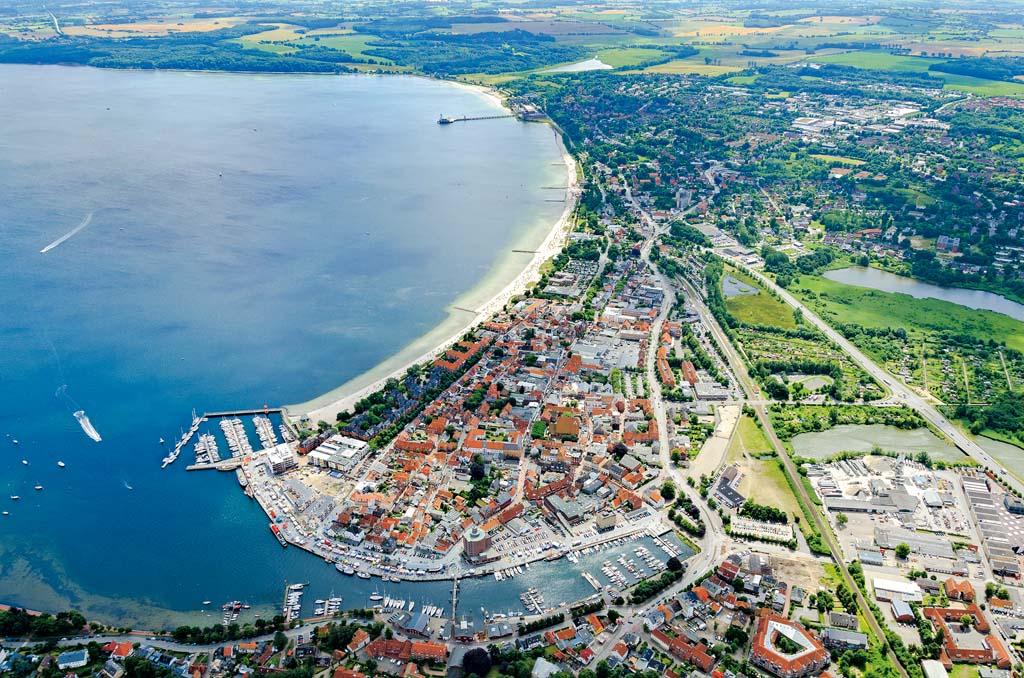 Luftbild von Eckernförde an der Ostsee