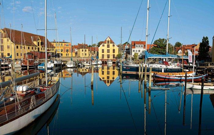 Svendborg im Osten der Insel Fünen