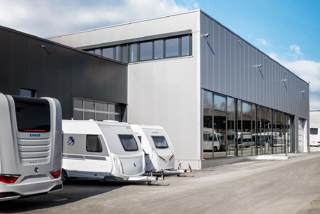 Knaus Wohnmobil-Auslieferungszentrum von Knaus Tabbert in Jandelsbrunn
