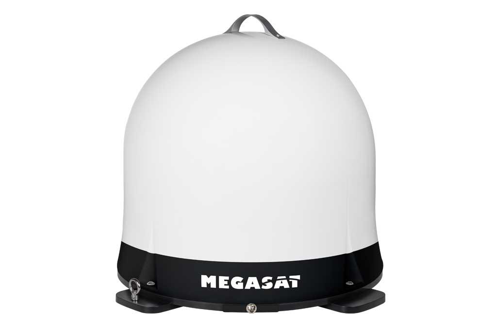 DEr Campingman Portable Eco von Megasat bezieht seinen Strom übers Koaxkabel.