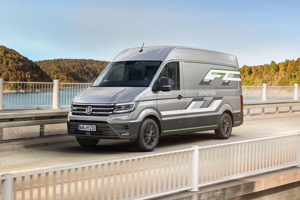 VW zeigt auf der IAA Nutzfahrzeuge in Hannover die Studie Crafter HyMotion mit Brennstoffzellenantrieb.