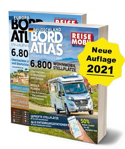 Bordatlas Stellplatzführer 2021 Deutschland und Europa